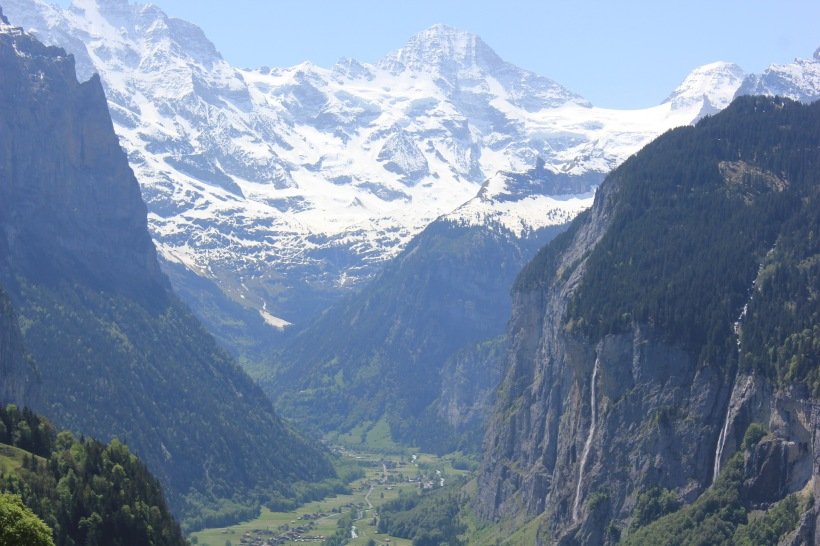 The view of Lauterbrunnen from Wengen
